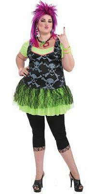 Plus Size 80s Funk Punk Costume for Ladies