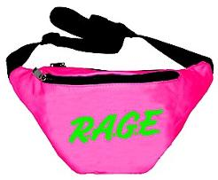 RAGE Neon Pink Fanny Pack