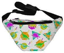 Retro Dinosaurs and 80s Art Fanny Pack