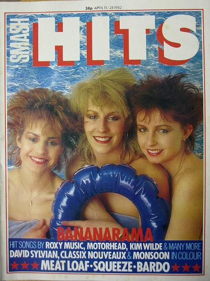 Bananarama on the cover of Smash Hits in April 1982