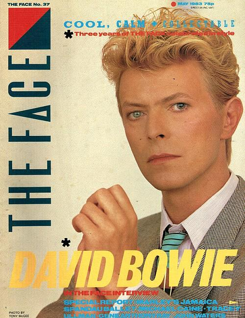 David Bowie on the cover of The Face in May 1983