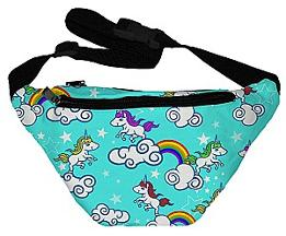 Unicorns and Rainbows 80s Fanny Pack
