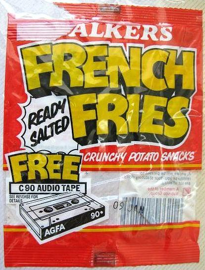 Walker's French Fries 1980s packet