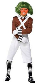 Boys Oompa Loompa Fancy Dress Costume