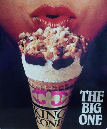 Erotic 80s advert for King Cone