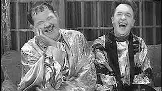 Laurel and Hardy laughing