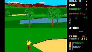 Leaderboard golf game Atari ST screenshot (1986)