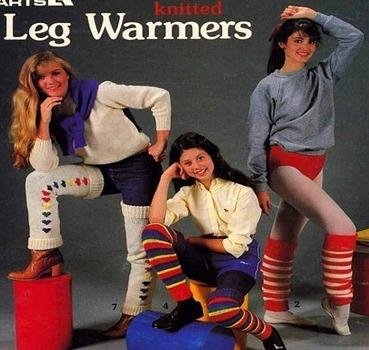 Knitted Leg Warmers in an 80s Magazine