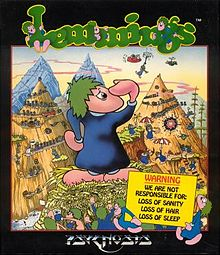 Lemmings box artwork