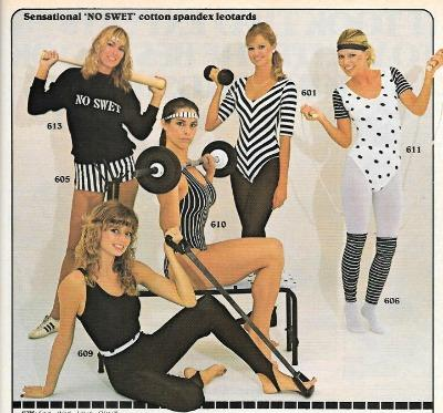 Women's 80s Workout clothes