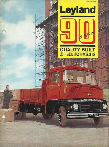 Leyland 90 CWT/GVW sales brochure from January 1965