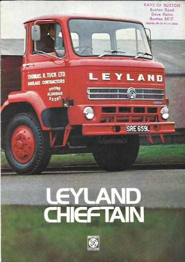 Leyland Chieftain brochure 1970s