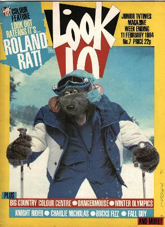 Look-In Magazine 11th Feb 1984 ft. Roland Rat