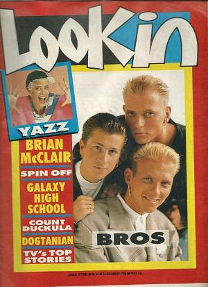 Bros on the cover of Look-In magazine in November 1988