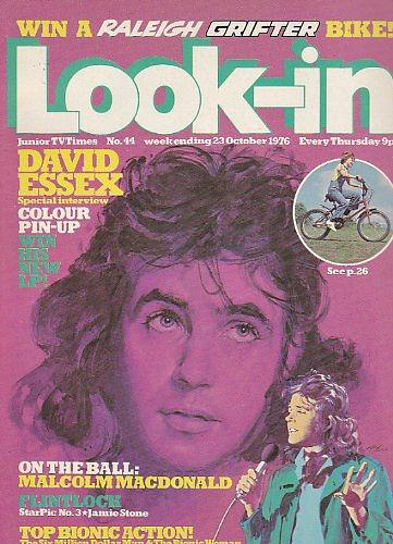 Look=In Magazine Cover #44 - Oct 1976 David Essex