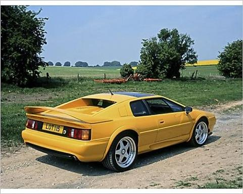 Lotus Esprit Turbo S4 yellow