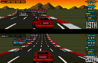 Lotus Esprit Turbo Challenge on the Commodore Amiga (1990)