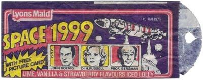 Lyons Maid Space 1999 Ice Lolly wrapper from 1975
