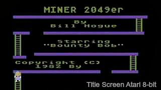 Miner 2049er title screen Atari 800 (1982)