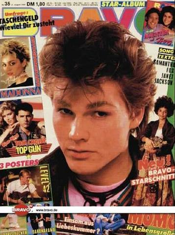 Morten Harket from a-ha - Bravo magazine 1980s