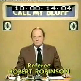 Call My Bluff with Robert Robinson
