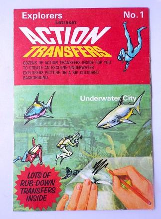 Explorers Letraset No1 - Action Transfers Underwater City