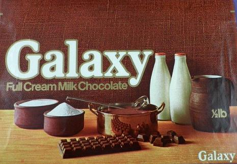 1970s Galaxy chocolate bar wrapper