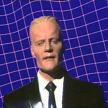 Max Headroom in Paranoimia with Art of Noise