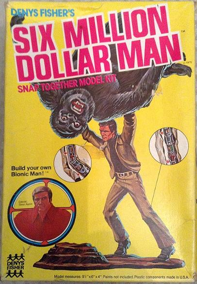 The Six Million Dollar Man - Snap Together Model Kit (1975) Denys Fisher