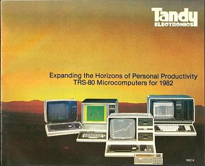 Tandy TRS-80 computer catalogue from 1982