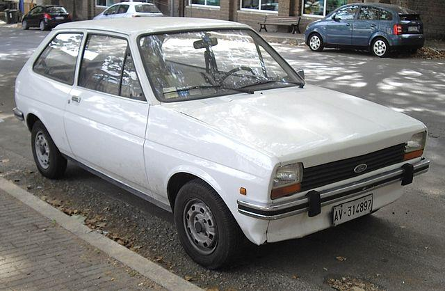 White Ford Fiesta Mk1 - public domain photo