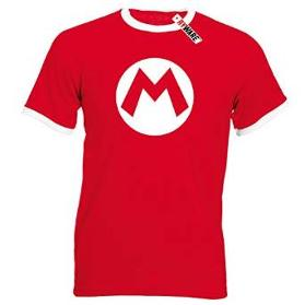 Men's Super Mario logo T-shirt red