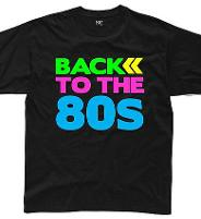 Men's Neon Back to the 80s T-shirt Black