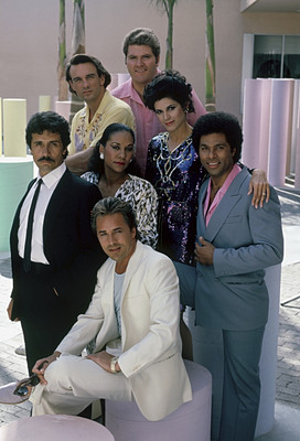 Cast of Miami Vice in 1985