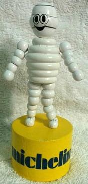 Michelin Tyres Man Push Button Toy