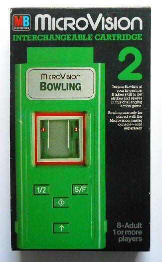MB MicroVision Bowling cartridge (1979)