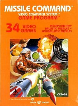 Missile Command - Atari 2600 cartridge