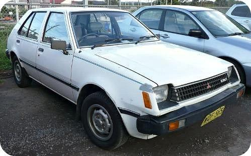 1982 Mitusbishi Colt Mirage - White 4 door
