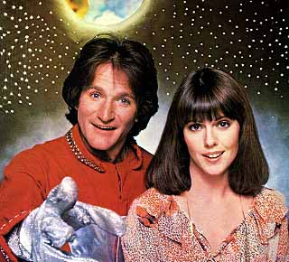 Robin Williams and Pam Dawber as Mork and Mindy