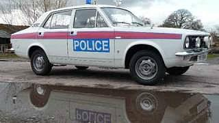 British Morris Marina Police Car