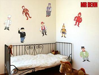 Create a Mr Benn themed bedroom using wall stickers
