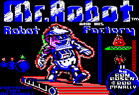 Mr. Robot and His Robot Factory - Apple II title screen