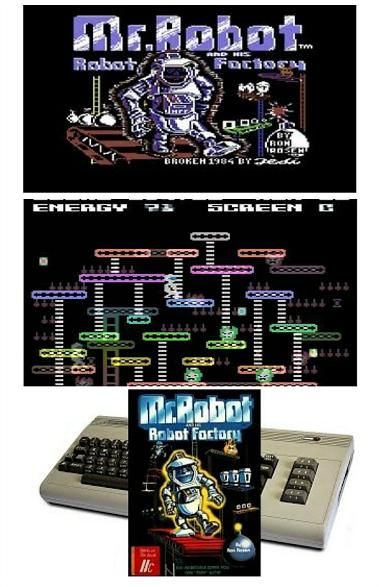 Mr Robot and his Robot Factory C64 collage