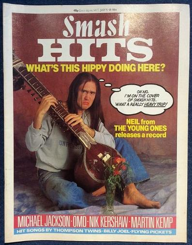 Neil on the cover of Smash Hits in July 1984