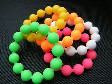 Neon 80s Balls Bracelets - pack of five