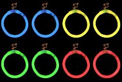 Glow in the dark hoop earrings