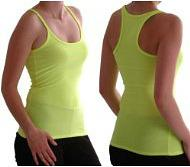 Neon Yellow Vest Top for an 80s Fitness Look