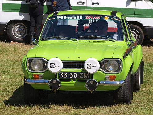 Lime green Ford Escort Mexico (Public Domain Image)
