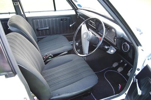 The front interior of a 1978 Ford Escort Popular Plus (c) John Lonergan