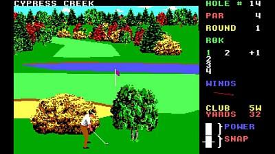 Leaderboard Golf PC Dos screenshot